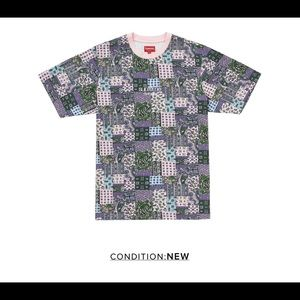 Supreme Patchwork Paisley Top Pink